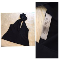 795eeb1fb6d5 MIU MIU VINTAGE HALTER TOP MADE IN ITALY Mint condition. Has been dry  cleaned. Super lovely top! Size 46 In Italian size which equals to a size 12  but ...