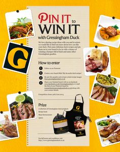 Pick some delicious duck recipes and pin them on to a board titled 'My favourite duck recipes'