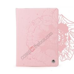 ROCK Impres Series Stand Folio Leather Case for iPad Air With Auto Wake Sleep function - Pink US$36.69
