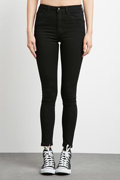 The Fairfax - a pair of skinny jeans featuring a high rise waist, five-pocket construction, and zip fly.