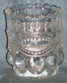 EAPG WINKING EYE EYEWINKER TOOTHPICK HOLDER DALZELL GILMORE LEIGHTON GLASS