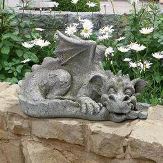 """Blushing Babel, the Bashful Dragon"" Statue: Medium $49.95"