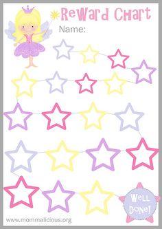 Mommalicious | Parenting website | Reward Charts - Free Printable