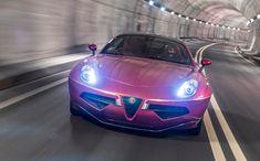 Le premier exemplaire de l'Alfa Romeo Disco Volante s'aligne au départ du Concours d'élégance de la Villa d'Este.