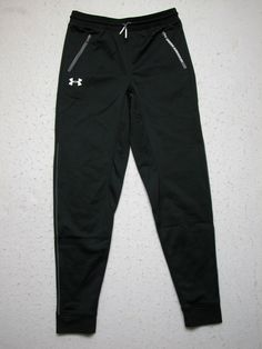 NWT Under Armour Boys L Black Sweat Loose Pants YLG NEW #UnderArmour  #AthleticSweatPants #