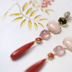 Ole Lynggaard coral earrings drops jewellery