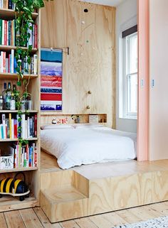 """single cabin - it doesn't have to have a """"bedroom"""", there can just be a sliding wall to divide the bed from the rest"""