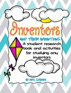 Chemical Sciences: Inventors and Their Inventions Unit: Student Research Book and Activities! 7th Grade Science, Science Curriculum, Teaching Science, Teaching Art, Invention Convention, Benchmark Advance, Chemical Science, Research Skills, Gifted Education