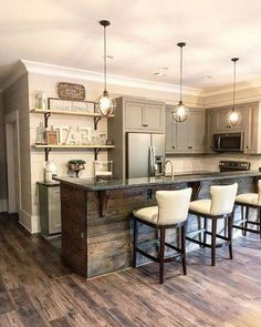 Kitchen Remodel Ideas 40 Comfortable And Modern Kitchen Design Ideas Home Decor Kitchen, Kitchen Design Decor, Kitchen Remodel, Home Remodeling, Home Renovation, Home Kitchens, Farmhouse Kitchen Design, Modern Kitchen Design, Kitchen Style