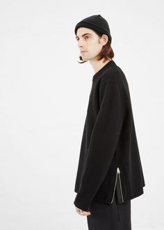 Acne Studios Micha Sweater in Black #totokaelo #acnestudios #sweaters #menswear