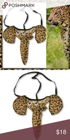 MAN SEXY ELEPHANT LEOPARD SILK UNDIES GOOGLY  Make Him Feel Like a Panther in Bed!! Sexy Playful Thong Underwear in Leopard Print Silk with Big Ears and the Elephant Trunk that Will RISE when He hears your GROWLL  Great Gift  for the Sexy Man in your Life  Sexy Undies Underwear & Socks Briefs