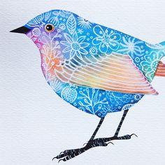 """""""Flower Bird"""", por Geninne."""
