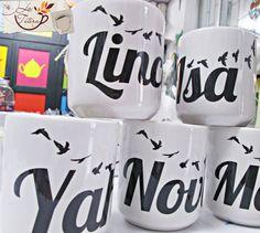 Personaliza tus mugs con nombre!! Te asesoramos en el diseño!! mercadeo@lateteramugs.com