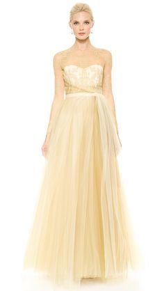 Notte by Marchesa Бальное платье с юбкой из тюля