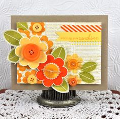 Wishing You Sunshine Button Bits Card by Dawn McVey for Papertrey Ink (May 2012)