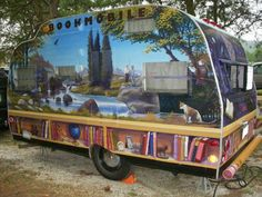 Bookmobile - Serro Scotty ~ painted by artist with all the things that are loved by the owner
