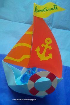 Maestra nella barchette di carta 39 benvenuti 39 carta for Idee per l accoglienza nella scuola dell infanzia