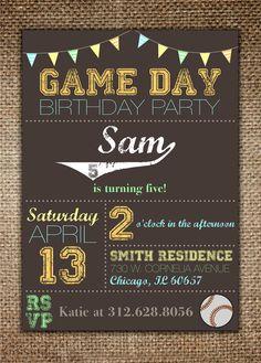 Children's Birthday Invitation Sports Theme with by BrownDogPress, $18.00