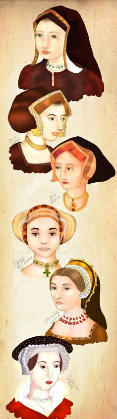 The Six Wives of Henry VIII by WisdomsPearl on deviantART