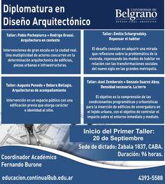 UB | DIPLOMATURA EN DISEÑO ARQUITECTÓNICO  La Universidad de Belgrano abre la inscripción a la Diplomatura en Diseño Arquitectónico, que inicia el próximo 20 de septiembre.  Más info: http://ly.cpau.org/1ttlIPK  #AgendaCPAU #ActualizaciónProfesional #RecomendadoARQ