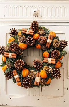 21 DIY Christmas Wreaths to Make Now! - Sharp Aspirant Thinking of making your own Christmas wreaths? You're going to love these fun and creative Christmas wreaths ideas! They're simple and easy to make and don't cost too much. Christmas Wreaths To Make, Noel Christmas, Rustic Christmas, Christmas Crafts, Christmas Ornaments, Cheap Christmas, Christmas Christmas, Christmas Design, Natural Christmas