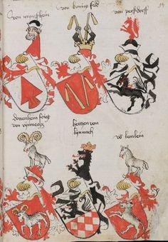 Wappenbuch des St. Galler Abtes Ulrich Rösch Heidelberg · 15. Jahrhundert Cod. Sang. 1084 Folio 94