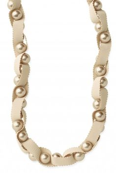 Olivia Pearl and Ribbon Necklace.