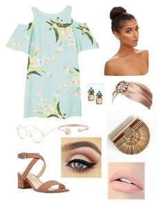 """Untitled #12"" by cjzj on Polyvore featuring MANGO, Full Tilt, Nine West, Miu Miu, Banana Republic and Jouer"