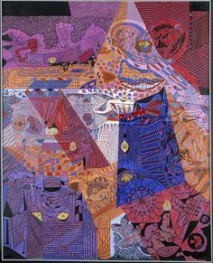 Alfred Pellan - Citrons ultra-violets, 1947. Huile sur toile, 208 x 167,3 cm.