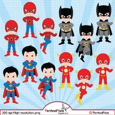 Superhero clipart Super Hero clipart Superhero by PentoolPixie