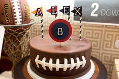 Game Time Football Themed Birthday Party + Free Printables