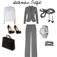 Interview Outfit, created by adventuresinmakeupandfashion on Polyvore