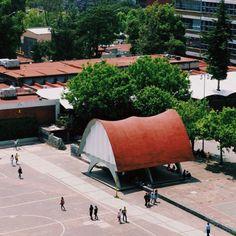 Pabellón de Rayos Cósmicos, Ciudad Universitaria (UNAM), Ciudad de México 1951  Arqs. Jorge González Reyna y Félix Candela -  Cosmic Ray Pavilion, Ciudad Universitaria (UNAM), Mexico City 1951