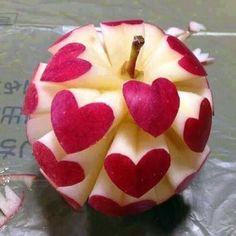 heart cut outs,apple