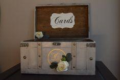 Vintage Wedding Card Box Rustic Wedding Card Box by AnArtsyAffair