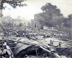 Construction work near South Kensington Station. | 15 Victorian Photos Of The London Underground Being Built