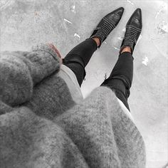 Cozy knits & anine bing charlie boots.