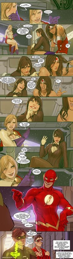 8.) Dude Talk. (One of my favorites) - Artist Nebezial (Stjepan Sejic) from DeviantART is probably the king of witty, hilarious and corny jokes about superheroes or popular fic...