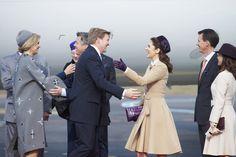 Los soberanos holandeses han sido recibidos con gran cariño por sus homólogos daneses, los herederos y los príncipes Joaquín y Marie