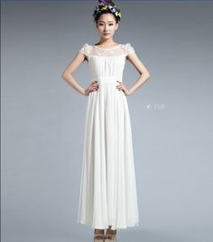 Embroidered Organza Full Pleated Maxi Skirt Wedding by ChineseHut, $179.00