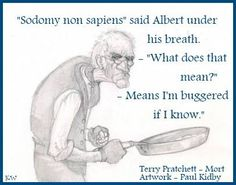 Quote by Sir Terry Pratchett, Artist Paul Kidby. By Kim White.