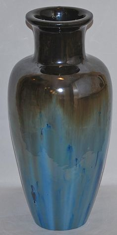 Fulper Pottery Chinese Blue Flambe Vase from Just Art Pottery
