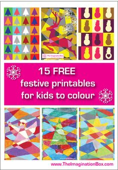 15 free Christmas colouring activity sheets for children, all available in outline format
