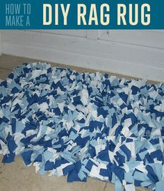 DIY Rag Rug Tutorial | How to Make a Rag Rug by DIY Ready at diyready.com/how-to-make-a-rag-rug/