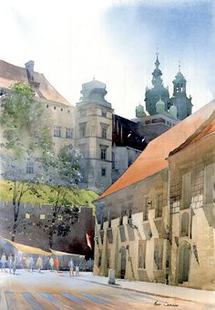 https://www.facebook.com/MiaFeigelson By Michal Suffczynski, Polish Architect and Watercolor Artist  - watercolor -  https://www.facebook.com/pages/Michal-Suffczynski/118101494905031 http://www.suffczynski.art.pl/