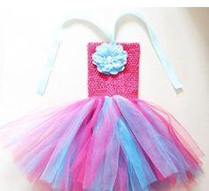 Multi color Children Handweave Tutu skirt with Crochet tops and Peony Flower for Tutu Skirt Kids, Kids Tutu, Baby Tutu, Kids Fashion Wear, Girls Tutu Dresses, Peony Flower, Flowers, Tulle Dress, Pretty In Pink