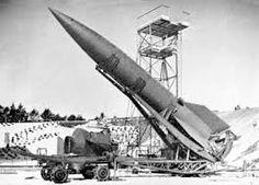 German V2 Rocket, the first ballistic rocket ever buildt.