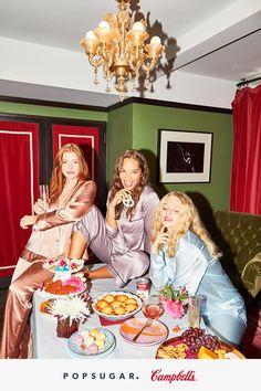 Pajamas, besties, and delicious food — is there anything better? Christmas Pajama Party, Christmas Pajamas, Christmas Games, Slumber Parties, Sleepover, Birthday Parties, Pijamas Women, Pj Party, Party Games