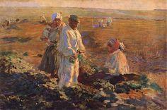 Leon Wyczolkowski - Beet harvest Harvest Activities, 3 Arts, Realism Art, Traditional Paintings, Farm Life, Photo Art, Art Nouveau, Fine Art, Farming