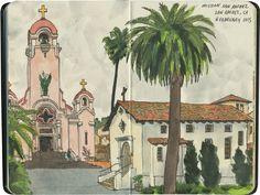 Mission San Rafael Arcángel and its adjacent cathedral, San Rafael, CA.